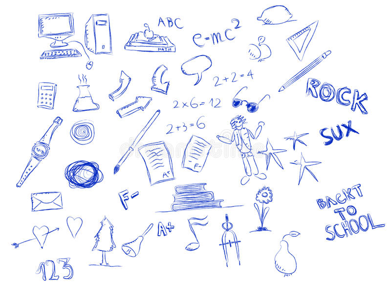 Download School Doodle Royalty Free Stock Image - Image: 12979996