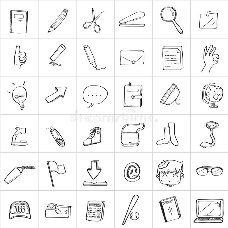 Free School Doodle Drawing Royalty Free Stock Photo - 42507575