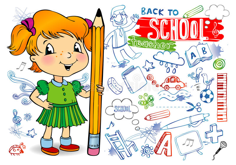 School Doodles Royalty Free Stock Images