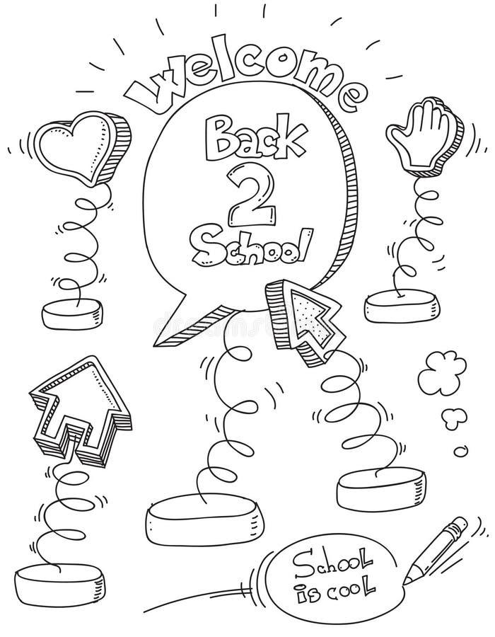 Download School doodles stock vector. Illustration of memo, clips - 20720221