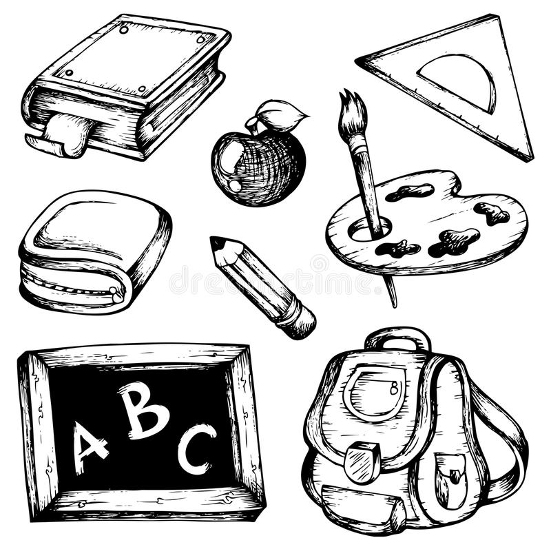 Download School Drawings Collection 1 Stock Vector - Illustration of equipment, learn: 21926964