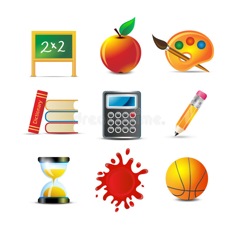School And Education Icons royalty free illustration
