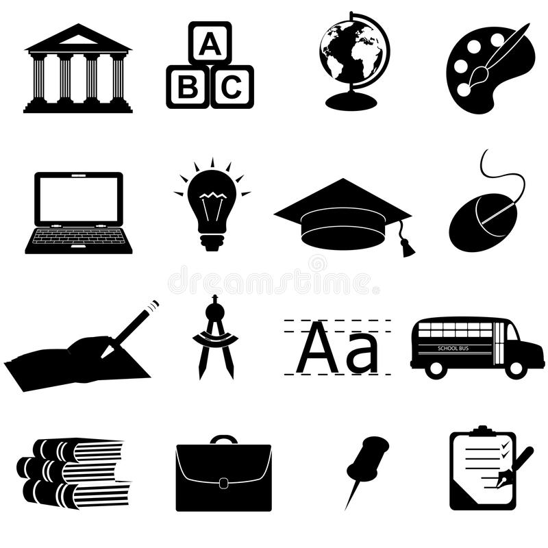 Download School And Education Icons Royalty Free Stock Image - Image: 19175516