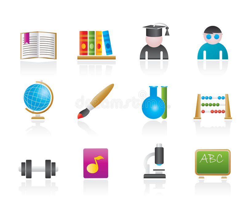 Download School and education icons stock vector. Image of internet - 20763336
