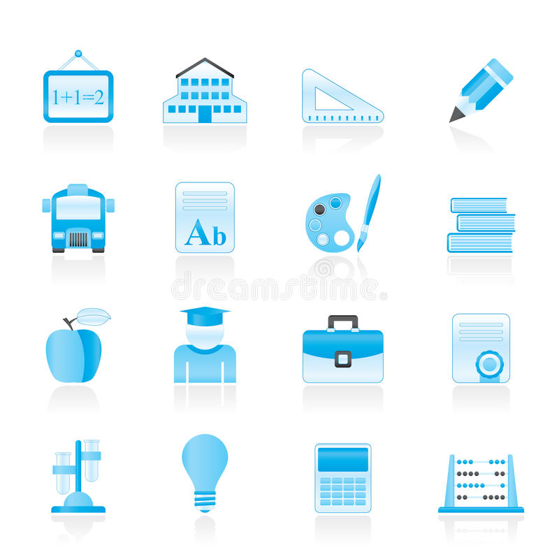 Download School And Education Icons Royalty Free Stock Photos - Image: 27293538