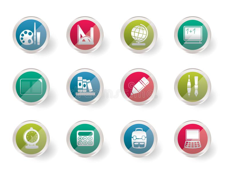 School and education icons over colored background royalty free illustration