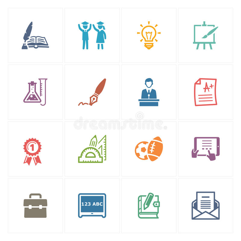 Free School & Education Icons Set 4 - Colored Series Stock Images - 41255214