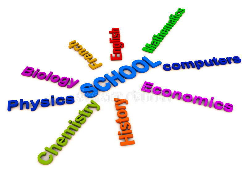 School education words collage royalty free illustration
