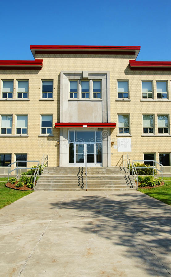 Download School entrance vertical stock image. Image of cement - 16505151