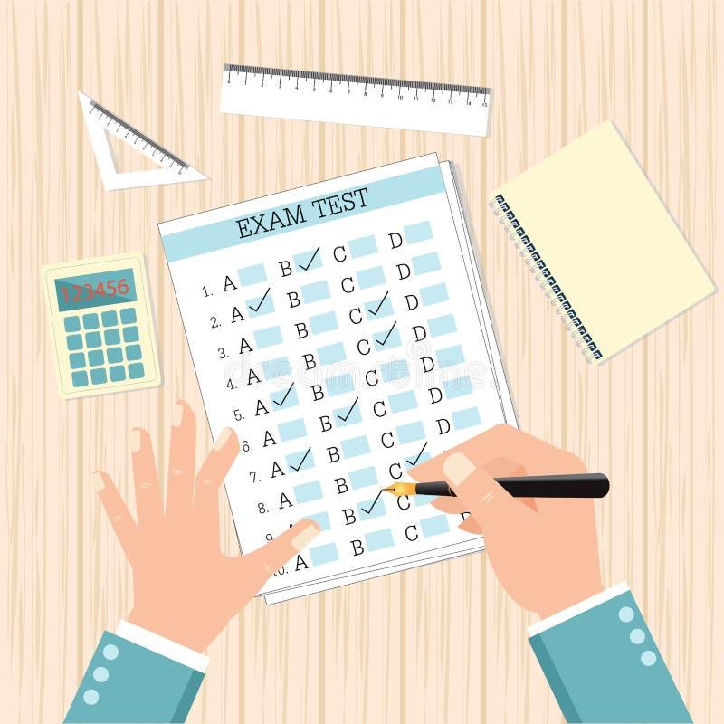 School exam test results. royalty free illustration