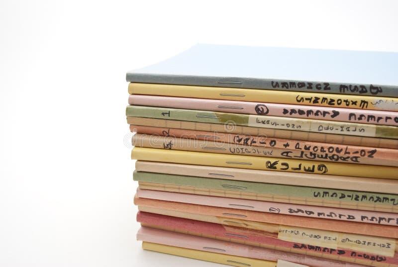 School Exercise Books - Mathematics royalty free stock photography