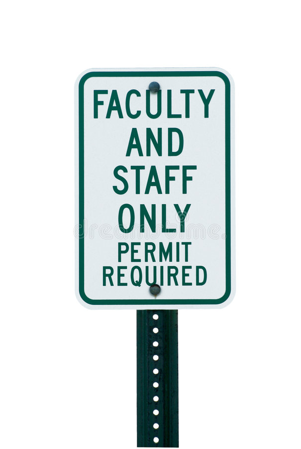 Download School Faculty Parking Sign Stock Photo - Image: 4966518