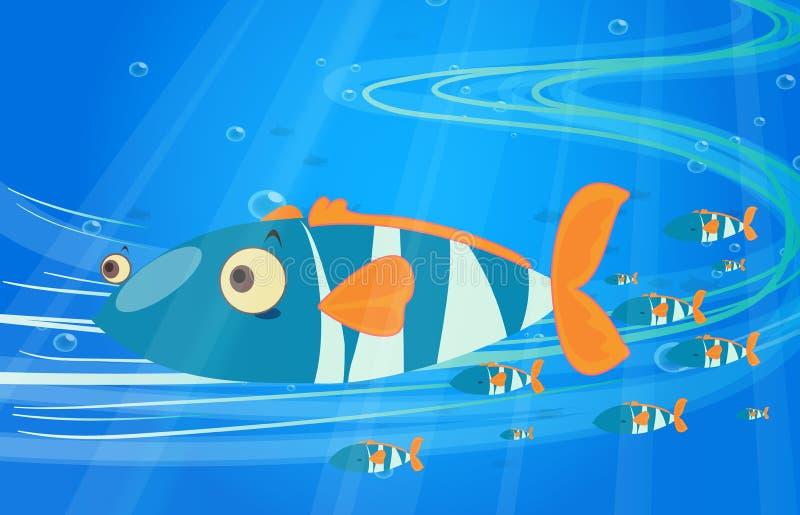 School of fish in the sea vector illustration