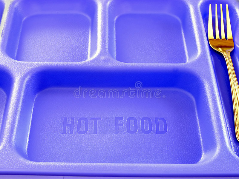 School Food Tray And Fork royalty free stock photography