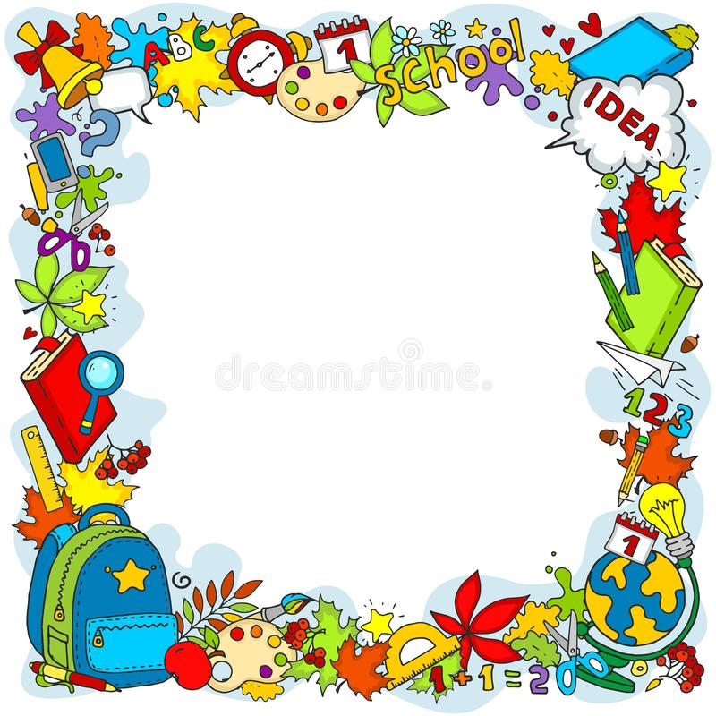 School frame. royalty free illustration