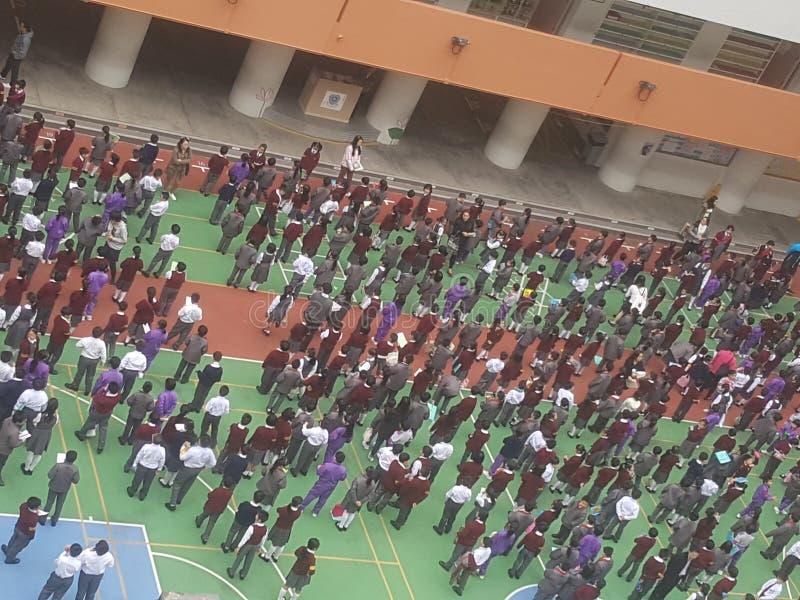 School Gathering stock photography