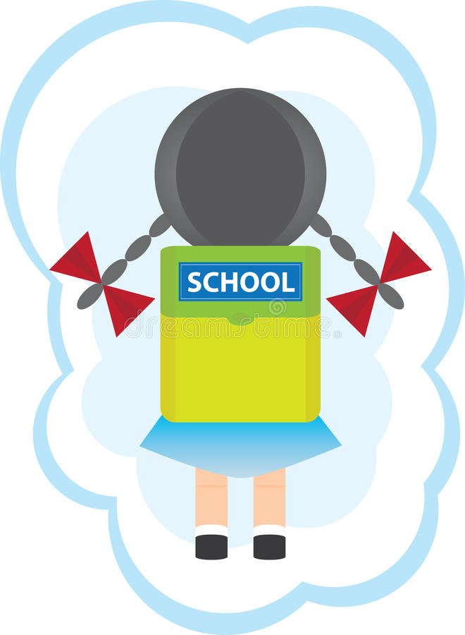 Download School girl stock vector. Image of child, artistic, schoolgirl - 15654762