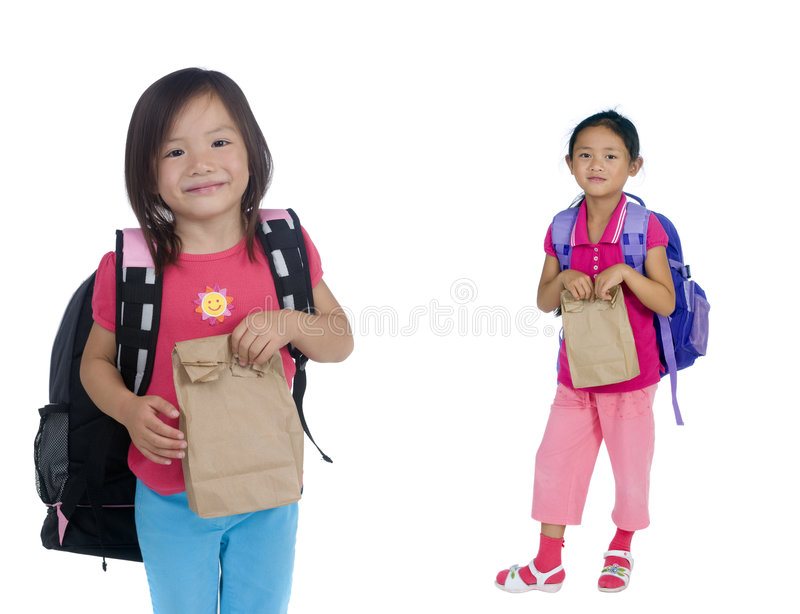 Download School Girl stock photo. Image of lunch, brown, child - 6709098