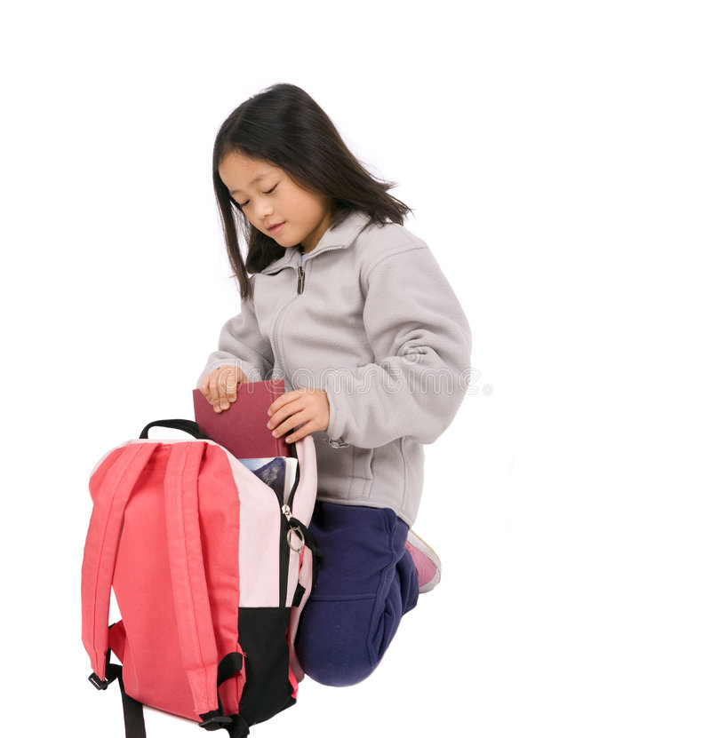Download School Girl stock image. Image of backpack, girl, smile - 8837423