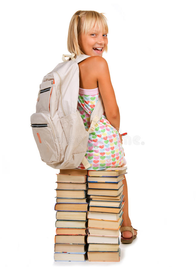 Download School Girl With Books Stock Photography - Image: 15472702