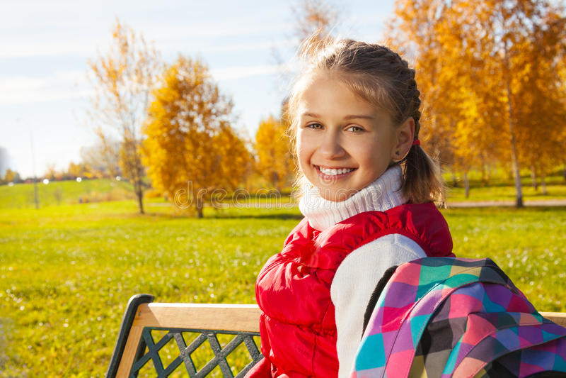 School girl close portrait royalty free stock photography