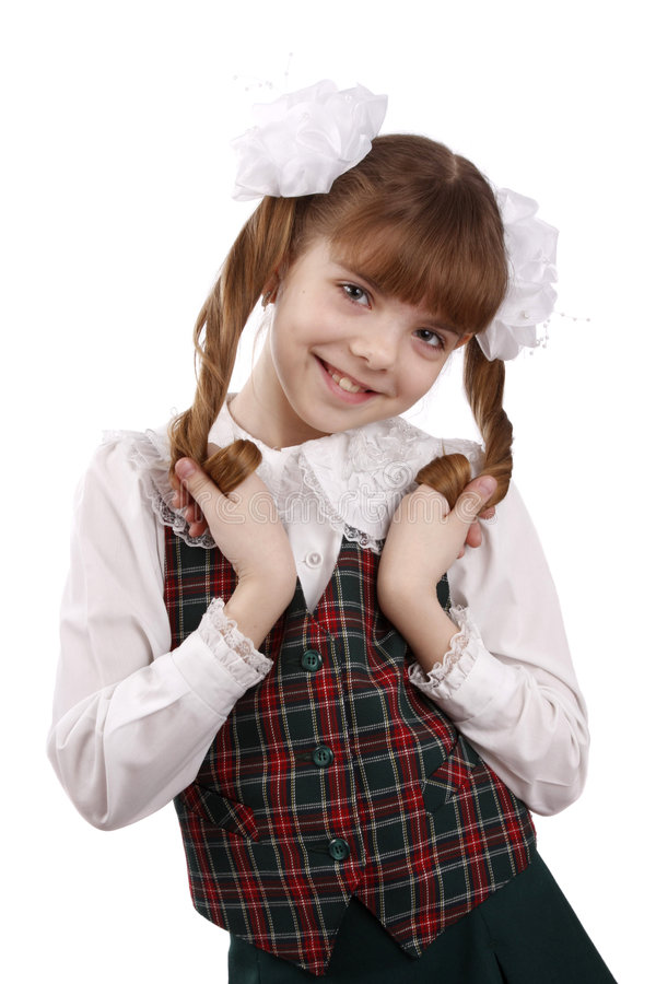 School girl. Education. Schoolgirl. stock photos
