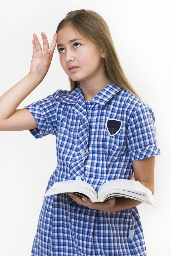 Download School girl fed up stock image. Image of handsome, beautiful - 572577