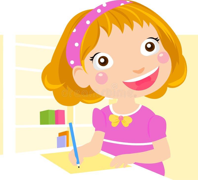 Download School Girl Homework Royalty Free Stock Photography - Image: 27562167