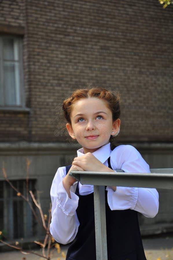 School girl outdoor royalty free stock photos