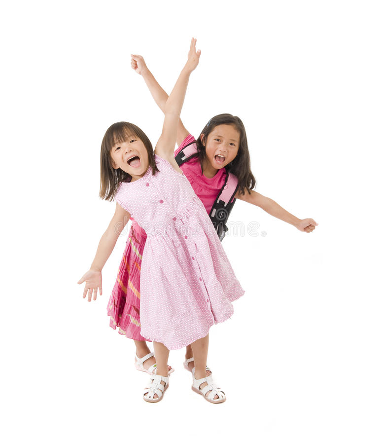 School Girls royalty free stock image