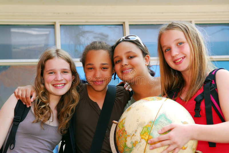 Download School girls stock image. Image of face, hold, happy, preteens - 2627855