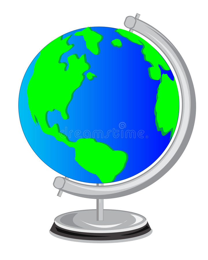 School globe vector illustration