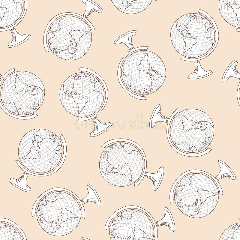 School Globe Seamless stock illustration