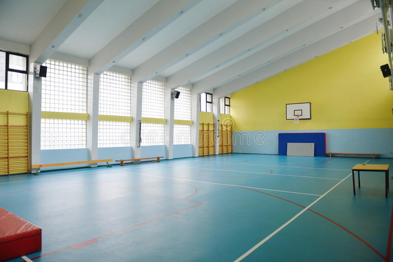 School gym indoor stock image of game fitness