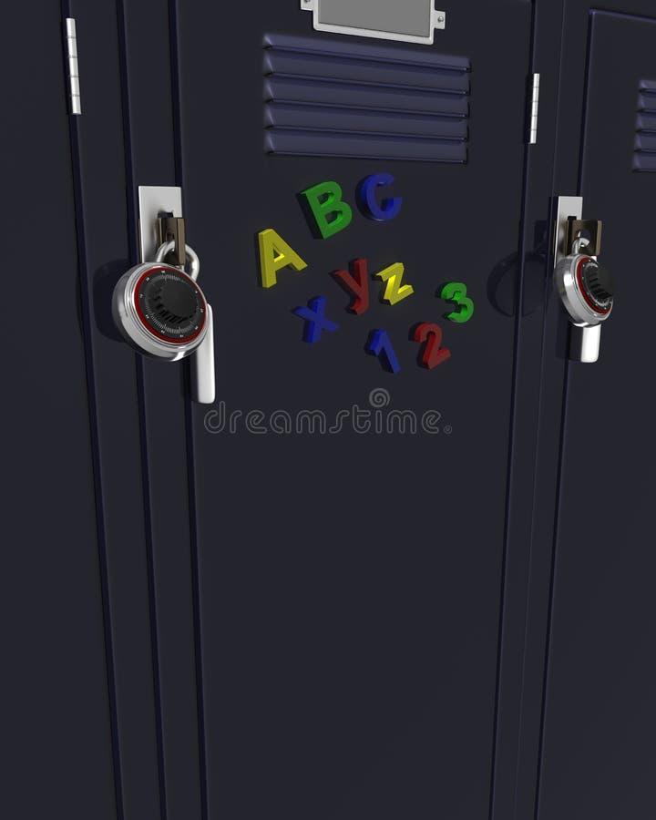 Download School gym locker stock illustration. Image of door, lock - 25699061