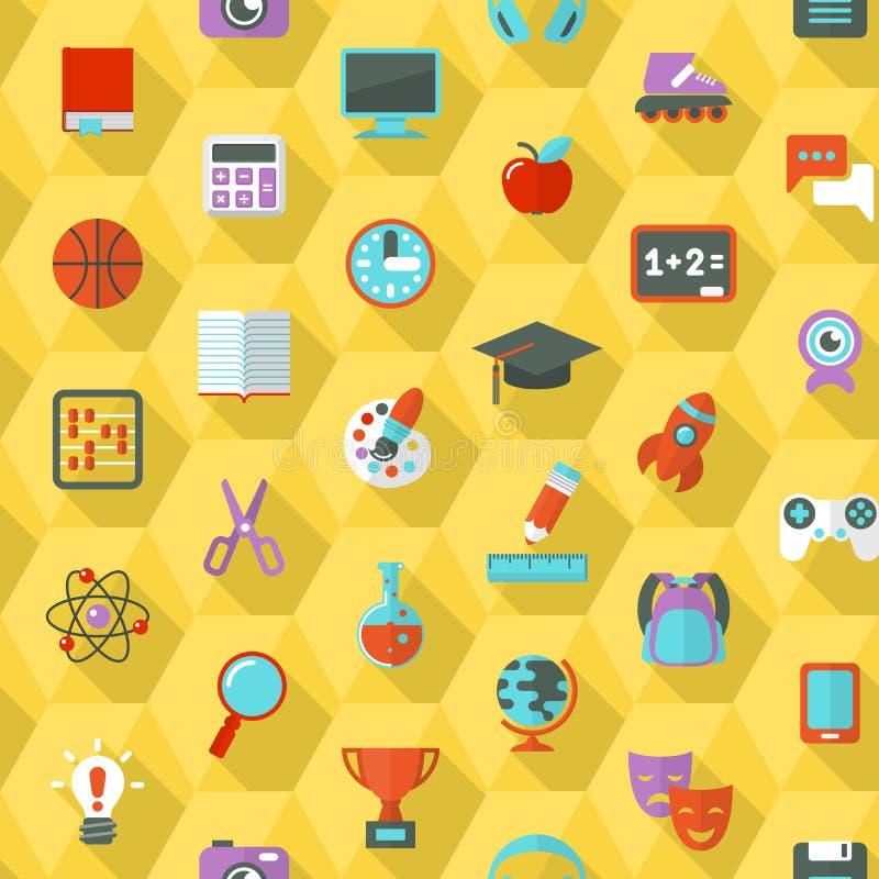 School Hexagon Pattern stock illustration