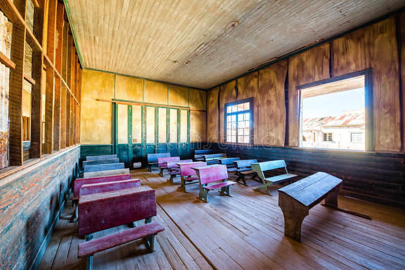 School in Humberstone, Chile stock image