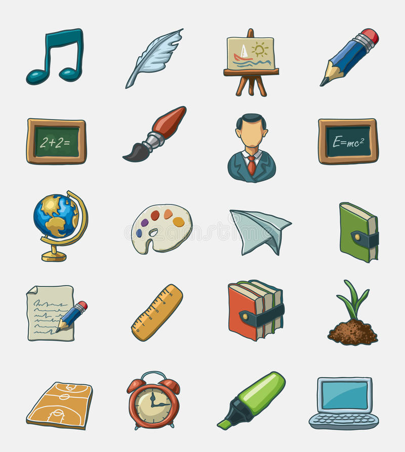 School icon set vector illustration