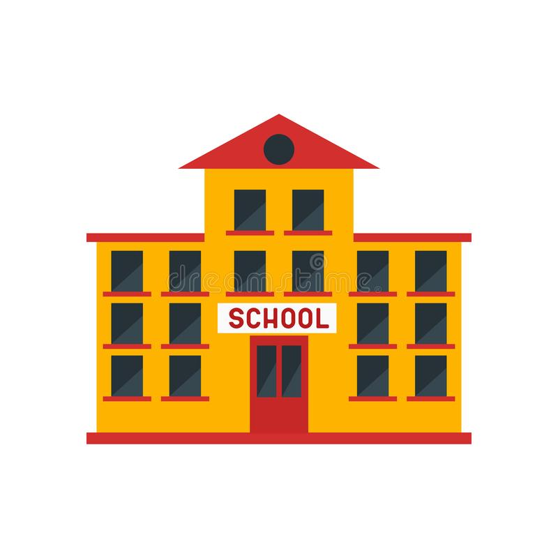 School icon vector sign and symbol isolated on white background, School logo concept. School icon vector isolated on white background for your web and mobile app stock illustration