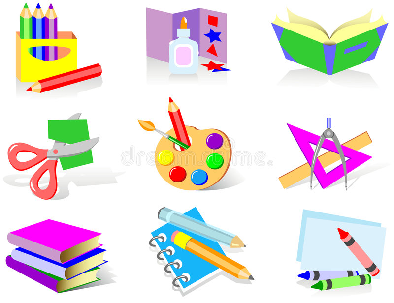 School icons royalty free illustration