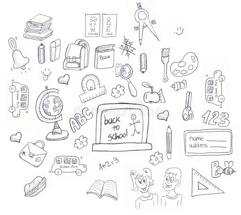 Download School icons doodle stock illustration. Image of items - 15336338