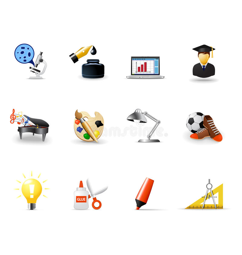 School icons, part 1 vector illustration