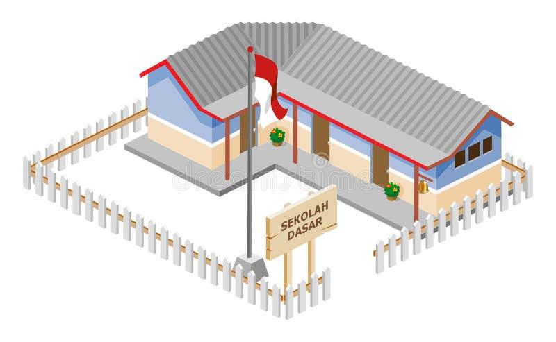 School Isometric vector illustration
