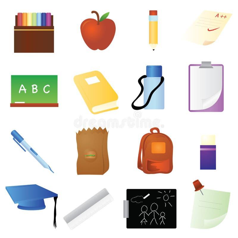 Download School Items stock vector. Illustration of book, alphabet - 8649730