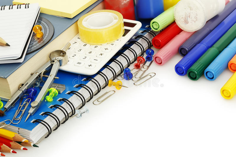 School items royalty free stock photography