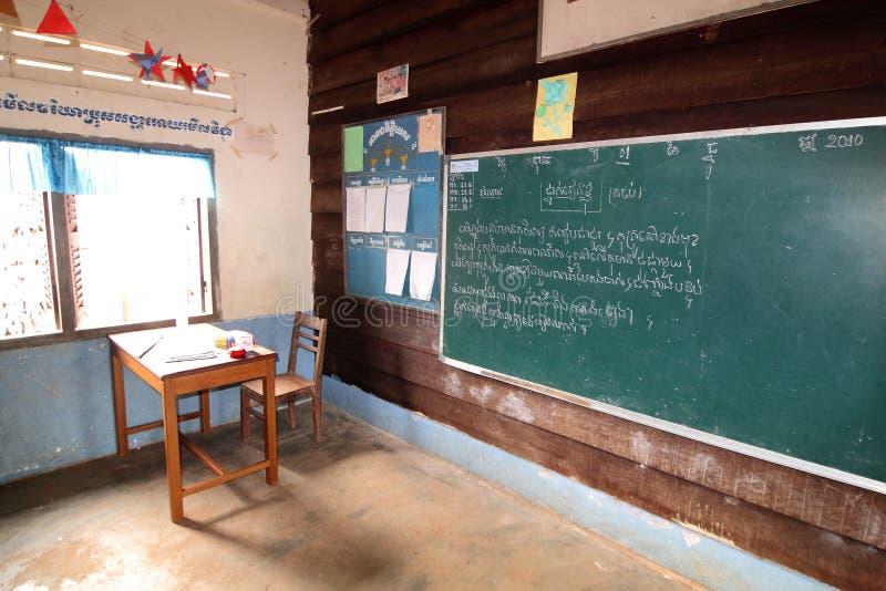 School in Kambodja stock foto's