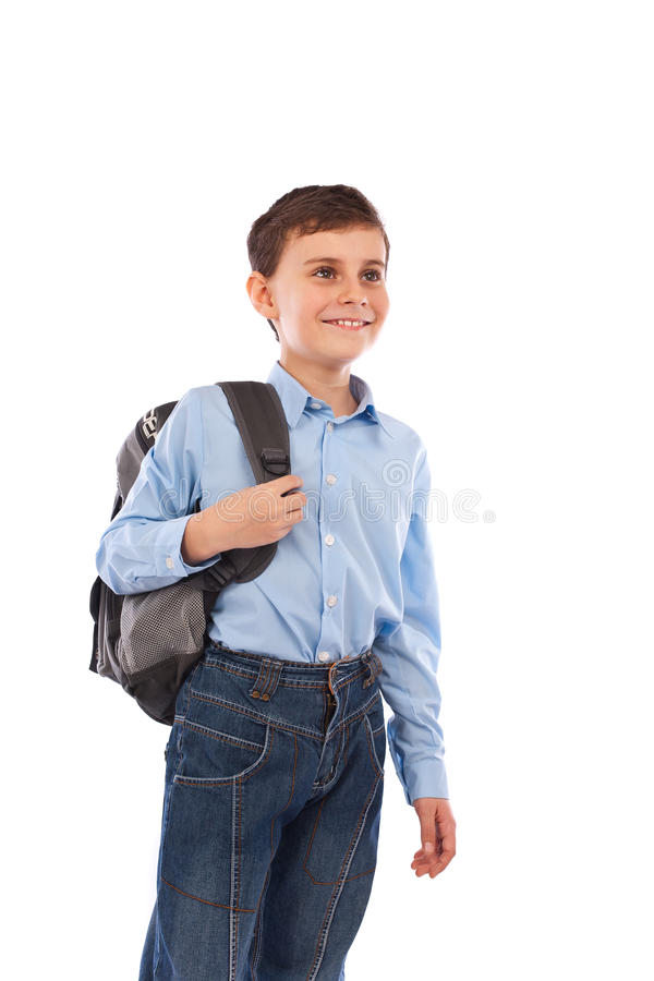 School Kid With Backpack Royalty Free Stock Image