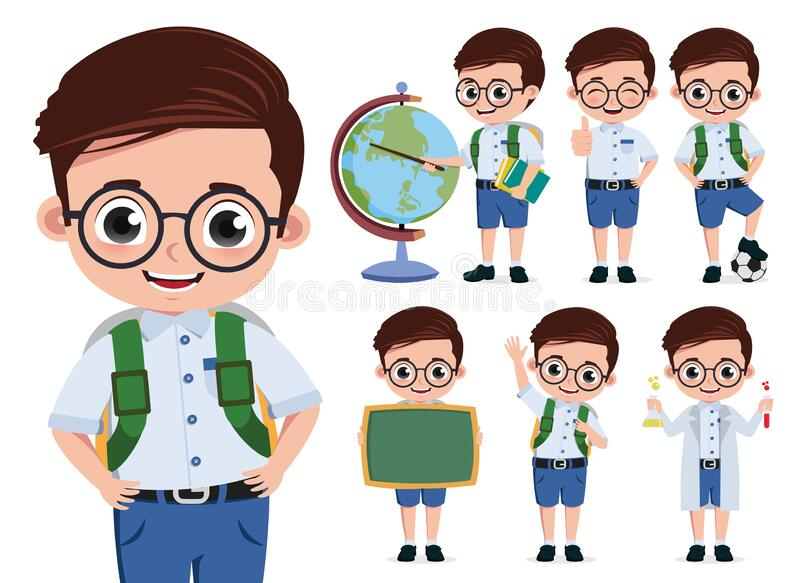 Boy Wearing Eyeglasses Stock Illustrations 129 Boy Wearing