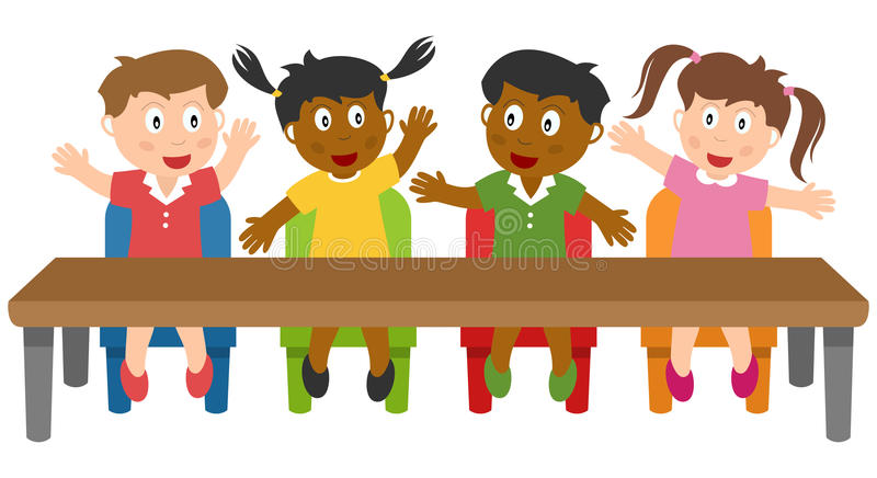 School Kids in the Classroom royalty free illustration