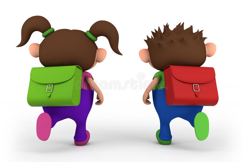 Download School kids running stock illustration. Image of girl - 20976716